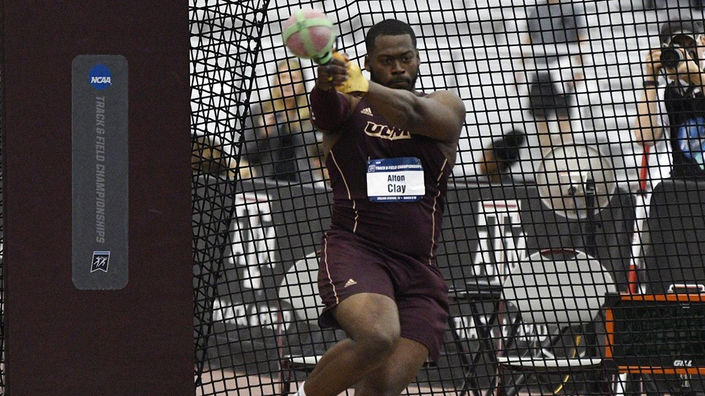 clay finishes second in weight throw at ncaa indoor championships